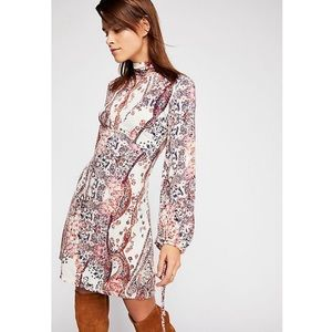 NWT Free People Printed Mini Dress *Plz Read Below